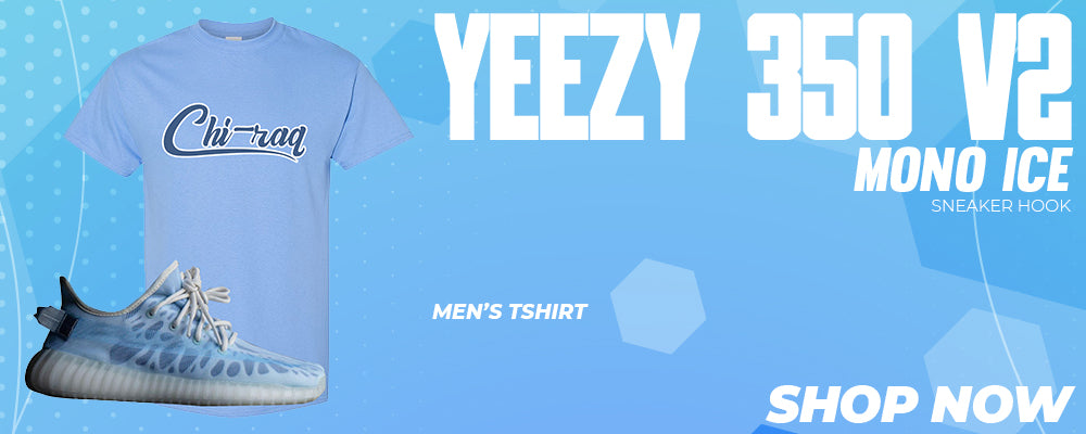 Yeezy 350 V2 Mono Ice T Shirts to match Sneakers | Tees to match Adidas Yeezy 350 V2 Mono Ice Shoes