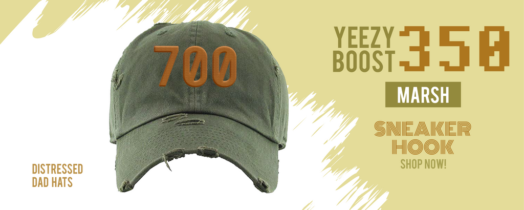 Dad hats to match Yeezy Boost 350 V2 Marsh sneakers