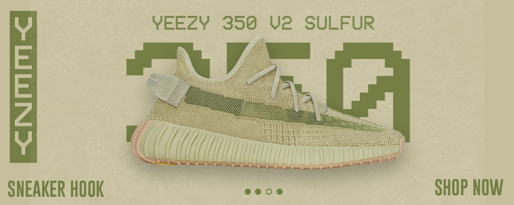 Yeezy 350 v2 Sulfur Clothing to match Sneakers   Clothing to match Adidas Yeezy 350 v2 Sulfur Shoes