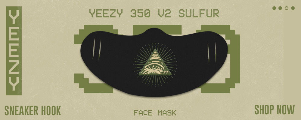 Yeezy 350 v2 Sulfur Face Mask to match Sneakers | Hats to match Adidas Yeezy 350 v2 Sulfur Shoes