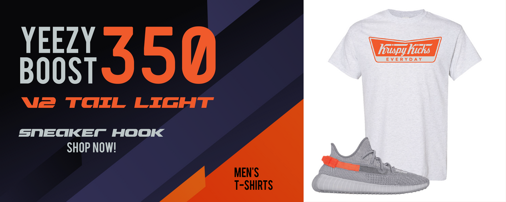 Yeezy Boost 350 V2 Tail Light T Shirts to match Sneakers | Tees to match Adidas Yeezy Boost 350 V2 Tail Light Shoes