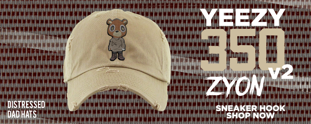 Yeezy 350 v2 Zyon Distressed Dad Hats to match Sneakers | Hats to match Adidas Yeezy 350 v2 Zyon Shoes