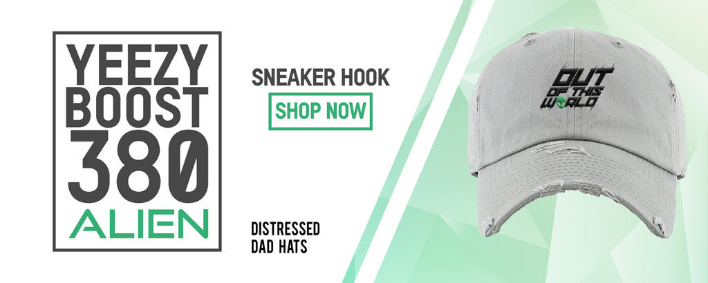 Yeezy Boost 380 Alien Sneaker Hook Up Distressed Dad Hats