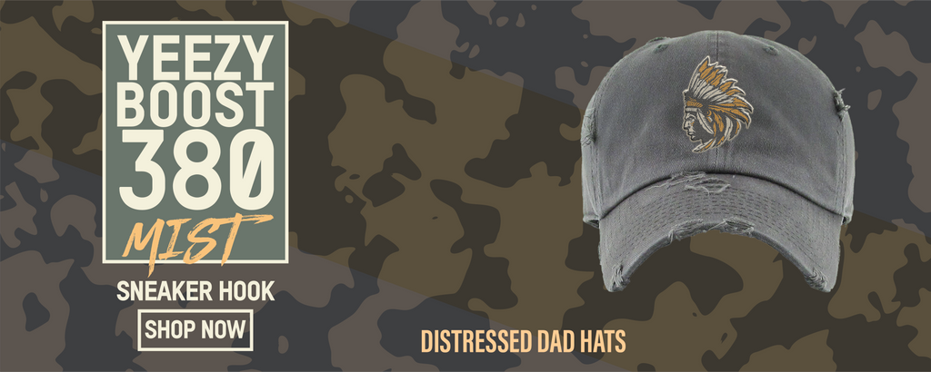 "Yeezy Boost 380 ""Mist"" Distressed Dad Hats to match Sneakers 