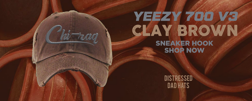 Yeezy 700 v3 Clay Brown Distressed Dad Hats to match Sneakers | Hats to match Adidas Yeezy 700 v3 Clay Brown Shoes