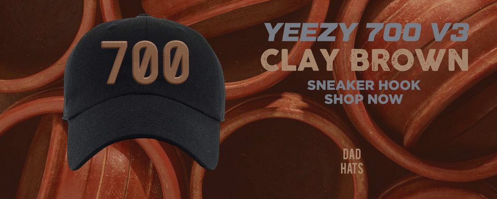 Yeezy 700 v3 Clay Brown Dad Hats to match Sneakers | Hats to match Adidas Yeezy 700 v3 Clay Brown Shoes