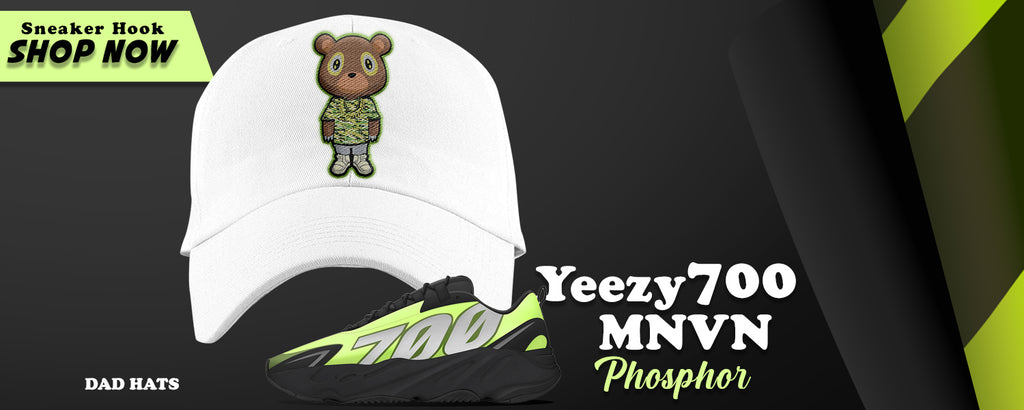 Yeezy 700 MNVN Phosphor Dad Hats to match Sneakers | Hats to match Adidas Yeezy 700 MNVN Phosphor Shoes