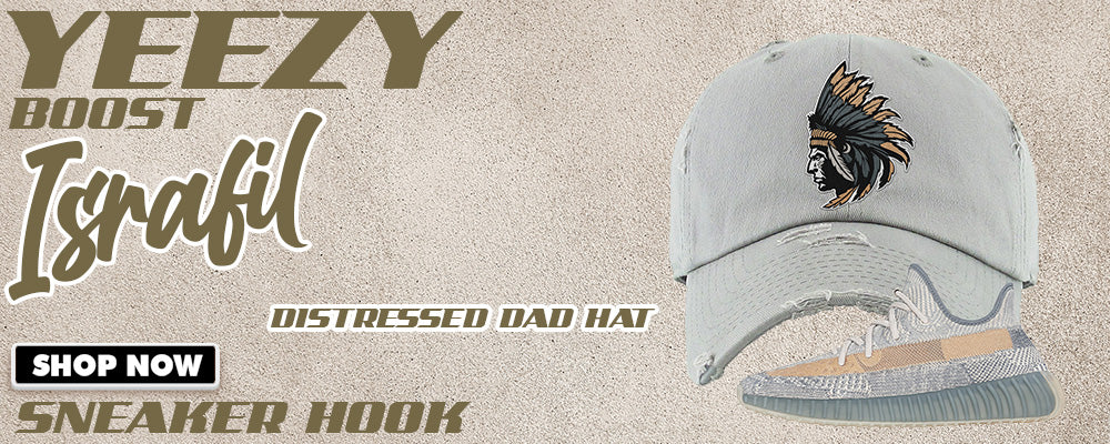 Yeezy Boost 350 V2 Israfil Distressed Dad Hats to match Sneakers | Hats to match Adidas Yeezy Boost 350 V2 Israfil Shoes