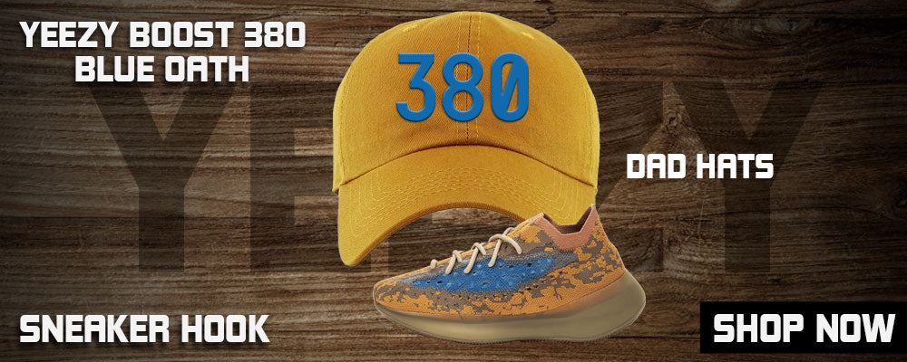 Yeezy Boost 380 'Blue Oat' Dad Hats to match Sneakers | Hats to match Adidas Yeezy Boost 380 'Blue Oat' Shoes