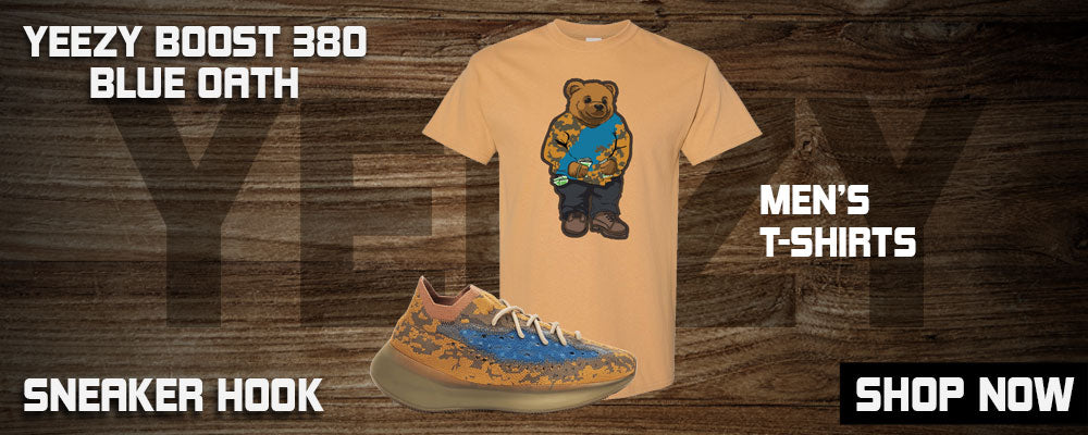 Yeezy Boost 380 'Blue Oat' T Shirts to match Sneakers | Tees to match Adidas Yeezy Boost 380 'Blue Oat' Shoes