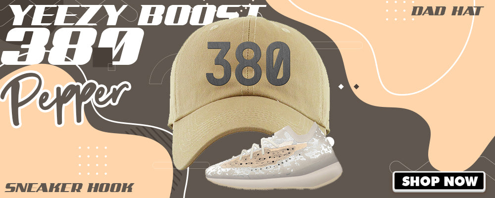 Yeezy Boost 380 'Pepper' Dad Hats to match Sneakers | Hats to match Adidas Yeezy Boost 380 'Pepper' Shoes