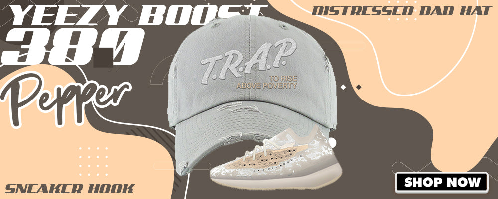 Yeezy Boost 380 'Pepper' Distressed Dad Hats to match Sneakers | Hats to match Adidas Yeezy Boost 380 'Pepper' Shoes