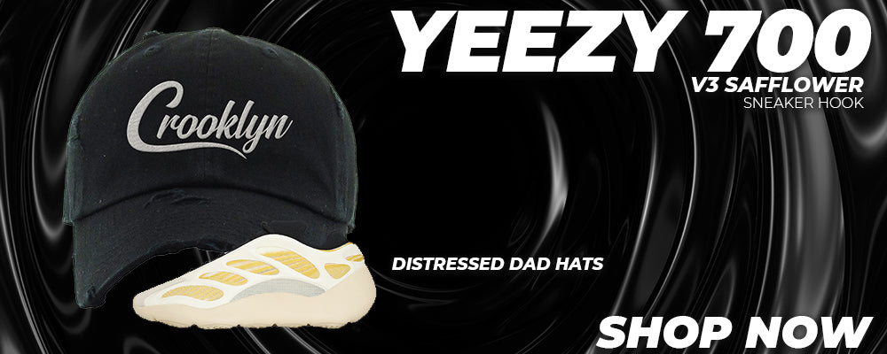 Yeezy 700 V3 Safflower Distressed Dad Hats to match Sneakers | Hats to match Adidas Yeezy 700 V3 Safflower Shoes