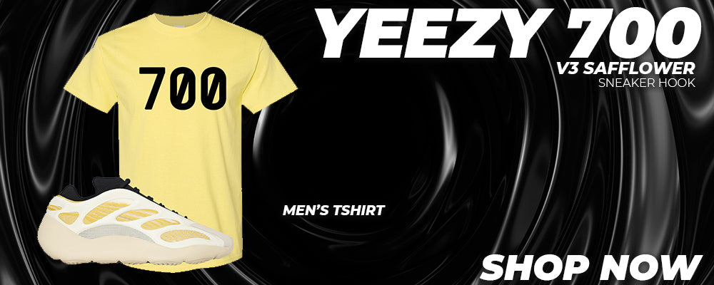 Yeezy 700 V3 Safflower T Shirts to match Sneakers | Tees to match Adidas Yeezy 700 V3 Safflower Shoes