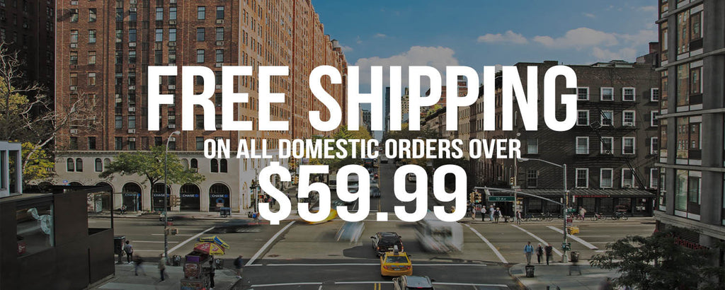 Free shipping on orders over $59.99. Get free shipping after spending $59.99.