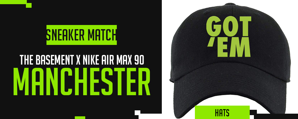 The Basement x Nike Air Max 90 Manchester Sneaker Matching Hats