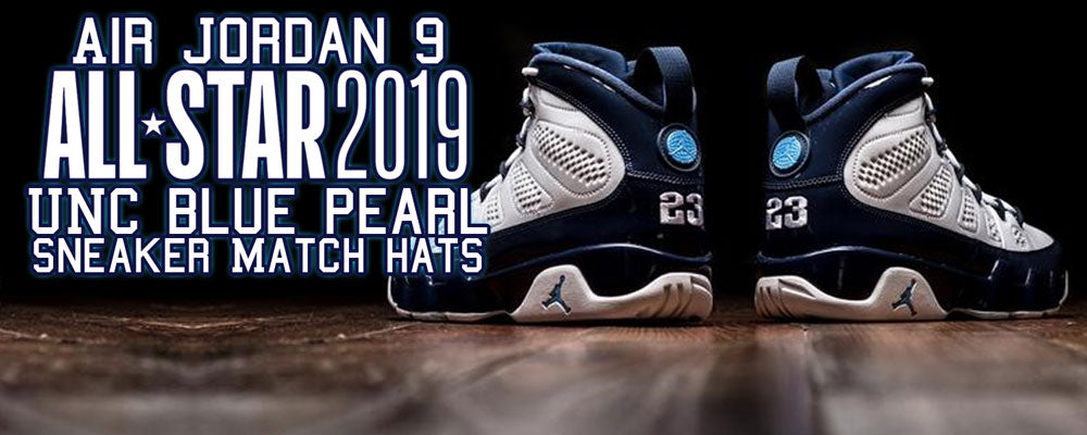a0580c865c28da Match your pair of Air Jordan 9 All Star UNC Blue Pearl sneakers with a  great ...