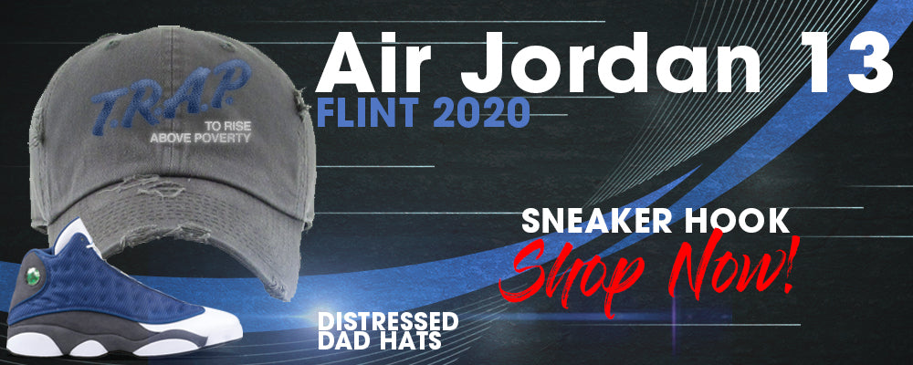 Jordan 13 Flint 2020 Distressed Dad Hats to match Sneakers | Hats to match Air Jordan 13 Flint 2020 Shoes