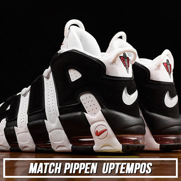 Shop custom sneaker matching dad hat to match the Nike Scottie Pippen Air More Uptempo Pippen sneakers
