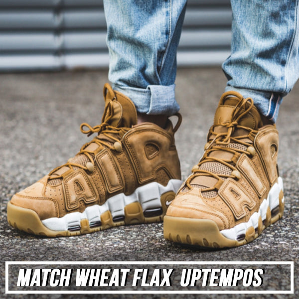Shop sneaker matching dad hat to match the scottie pippen sneaker the nike air more uptempo wheat flax