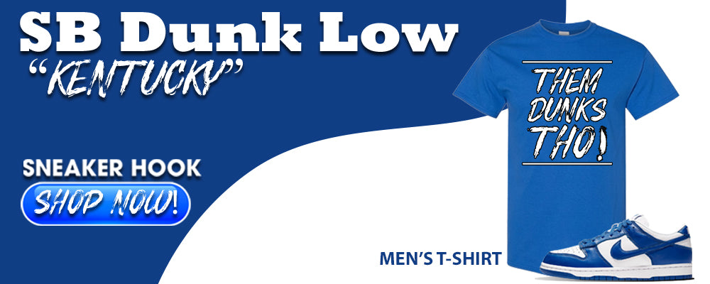 "Dunk Low ""Kentucky"" T Shirts to match Sneakers 