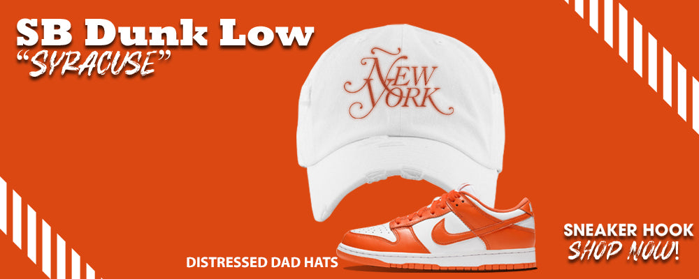 "SB Dunk Low ""Syracuse"" Dad Hats to match Sneakers 