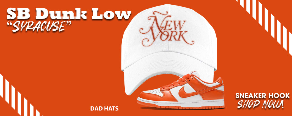 "SB Dunk Low ""Syracuse"" Distressed Dad Hats to match Sneakers 
