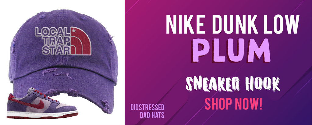 Dunk Low Plum Distressed Dad Hats to match Sneakers | Hats to match Nike Dunk Low Plum Shoes