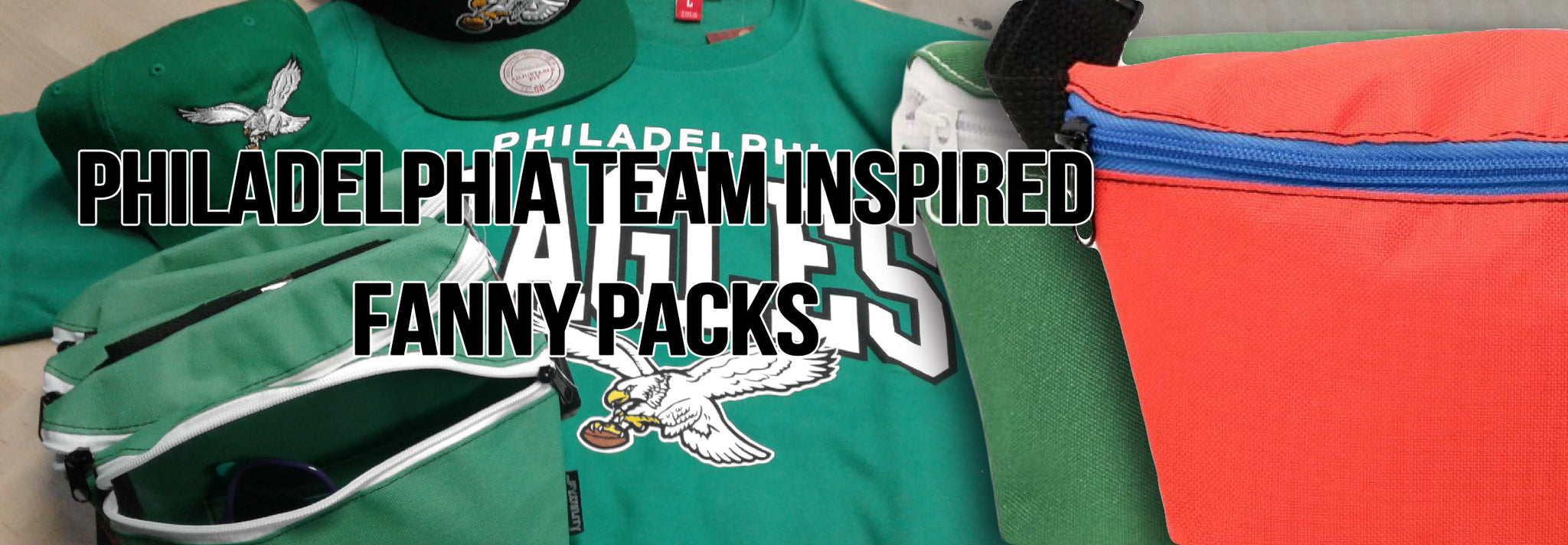 shop philadelphia sports team color fanny packs to bring out the philadelphia sports fan inside