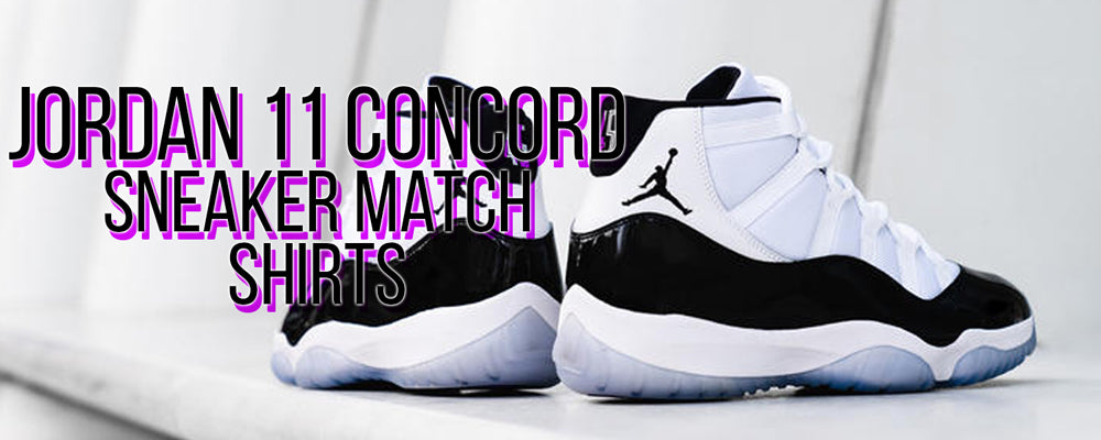 Shop shirts to match the Jordan 11 Concord sneakers