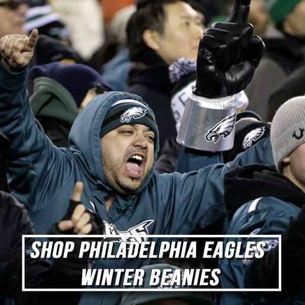 stay warm while you cheer on the Philadelphia Eagles with Philadelphia Eagles beanies, Philadelphia Eagles knit caps, and Philadelphia Eagles winter hats
