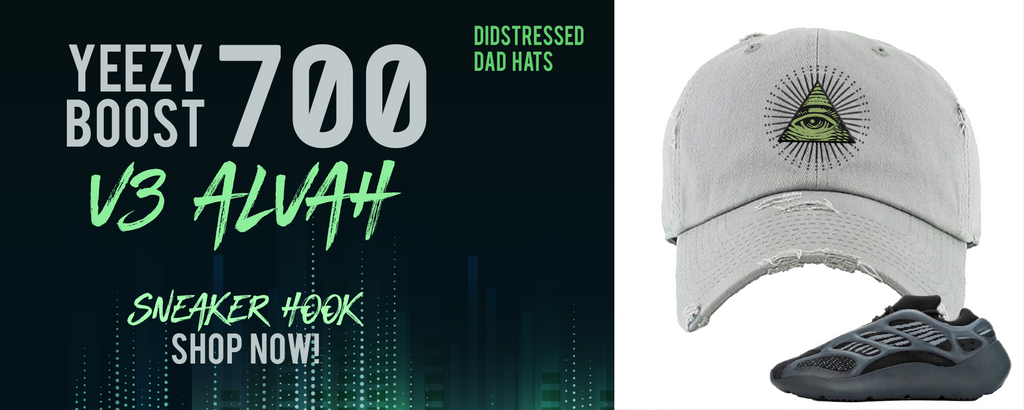 Yeezy Boost 700 V3 Alvah Distressed Dad Hats to match Sneakers | Hats to match Adidas Yeezy Boost 700 V3 Alvah Shoes