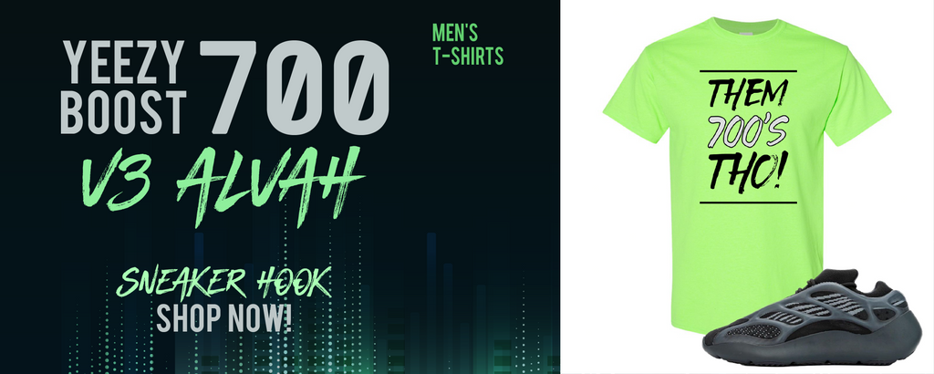 Yeezy Boost 700 V3 Alvah T Shirts to match Sneakers | Tees to match Adidas Yeezy Boost 700 V3 Alvah Shoes