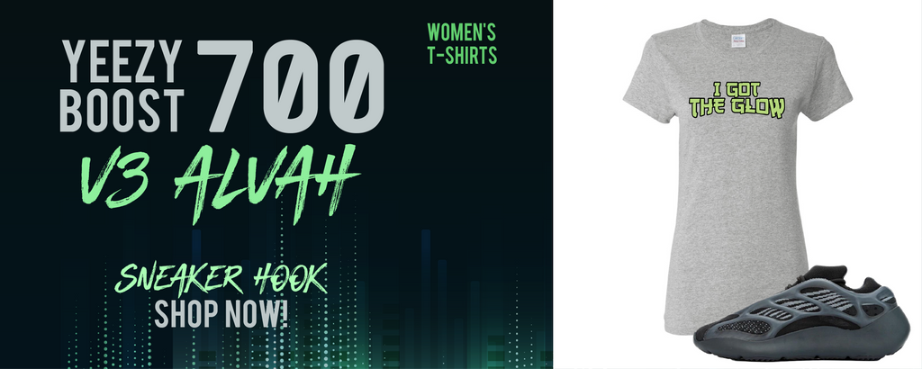 Yeezy Boost 700 V3 Alvah Women's T Shirts to match Sneakers | Women's Tees to match Adidas Yeezy Boost 700 V3 Alvah Shoes