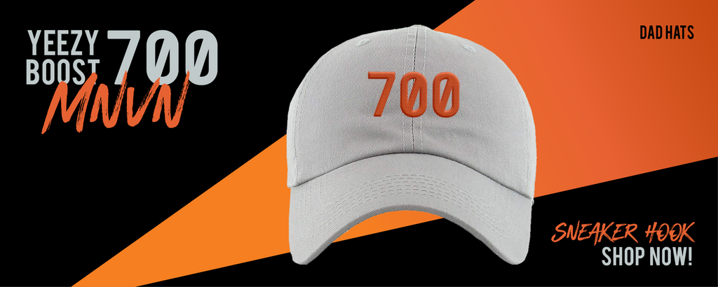 Dad Hats Made to Match Yeezy Boost 700 MNVN Orange Sneakers