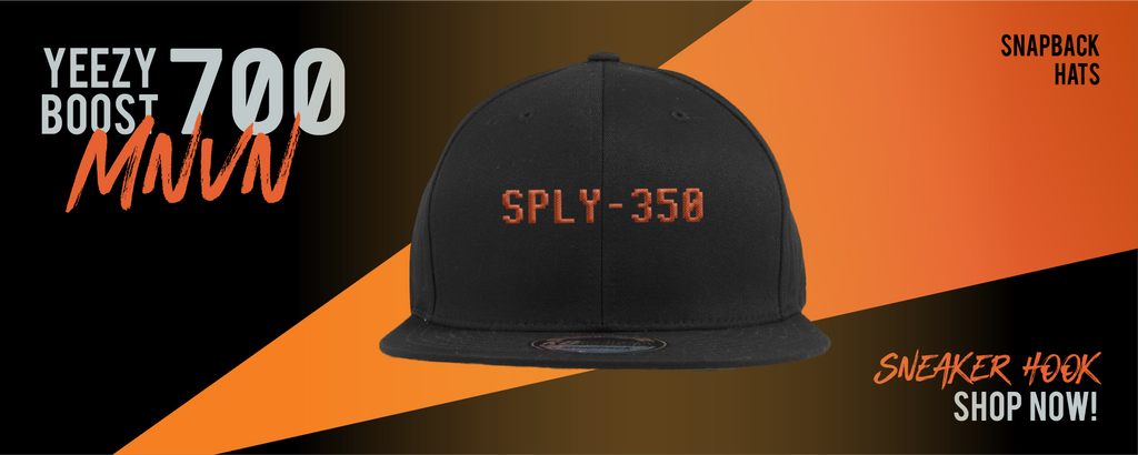 Snapback Hats Made to Match Yeezy Boost 700 MNVN Orange Sneakers