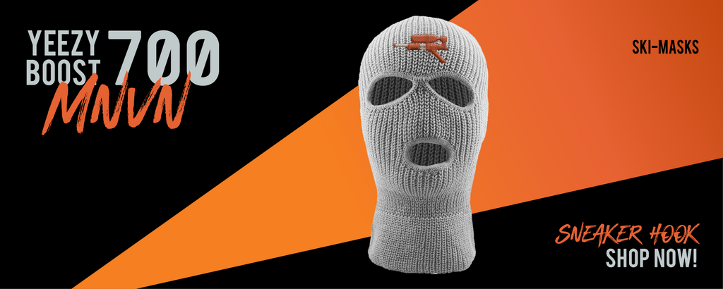 Ski Mask Made to Match Yeezy Boost 700 MNVN Orange Sneakers