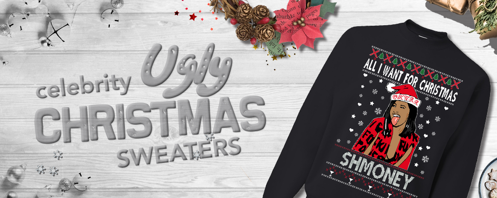 Shop all celebrity ugly christmas sweaters