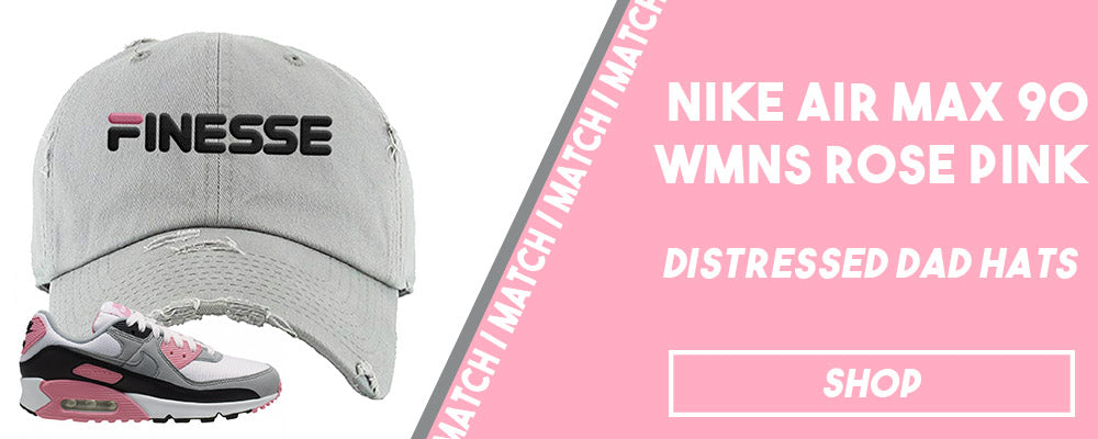 Air Max 90 WMNS Rose Pink | Distressed dad hats to match sneakers