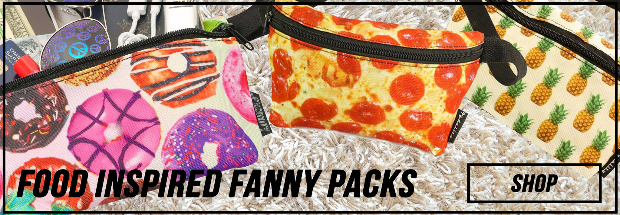 5f163c68cf50 ... shop food inspired fanny packs rock your sling bag with a custom food  print today ...