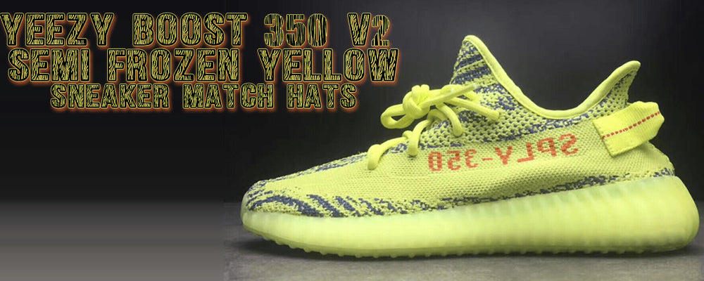Shop hats to match the Yeezy 350 Boost V2 Frozen Yellow sneakers