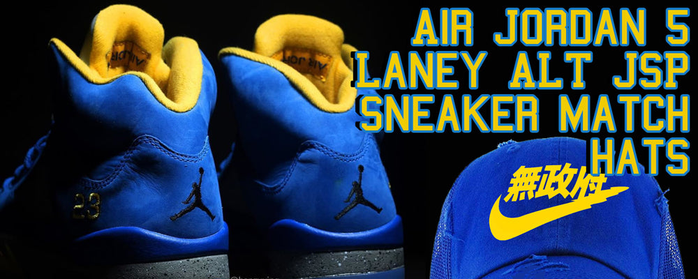 Match your pair of Air Jordan 5 Laney Alt JSP sneakers with these hats