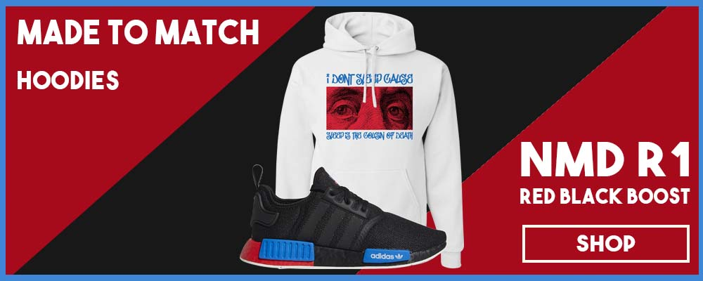 NMD R1 Black Red Boost Matching Hoodies | Sneaker hoodies to match NMD R1s
