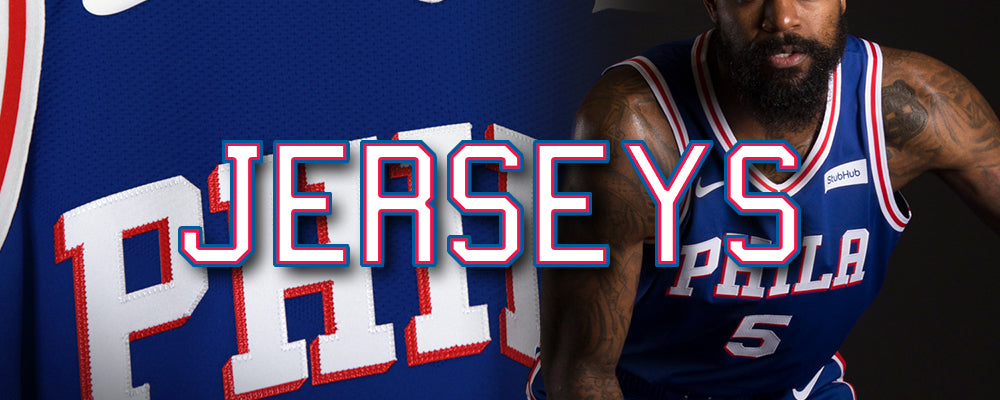 Shop all Philadelphia 76ers jerseys