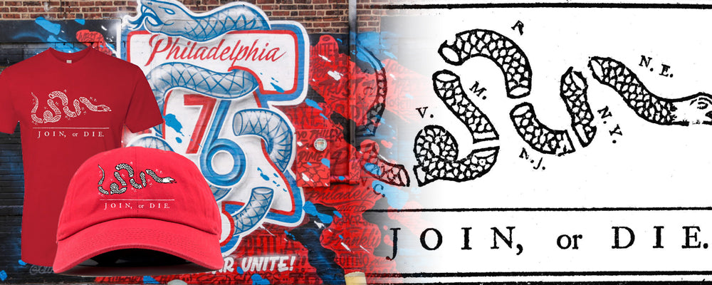 Shop all join or die Philadelphia inspired clothing