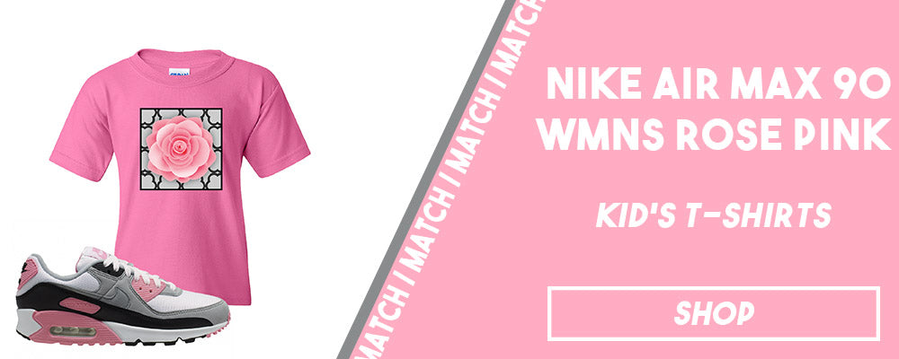 Air Max 90 WMNS Rose Pink | Kid's T-Shirts To Match Sneakers