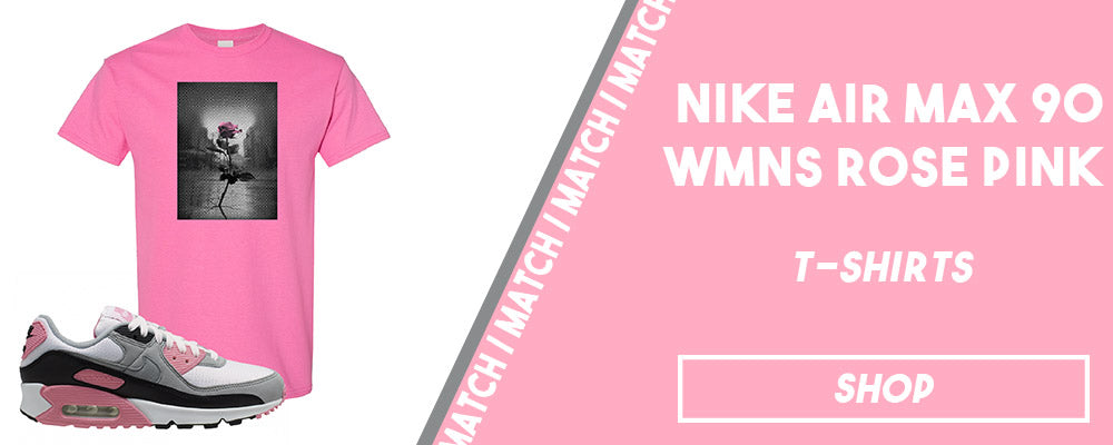 Air Max 90 WMNS Rose Pink | T-shirts to match sneakers