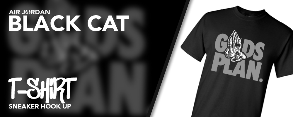 T-Shirts Made to Match Air Jordan 4 Black Cat Sneakers