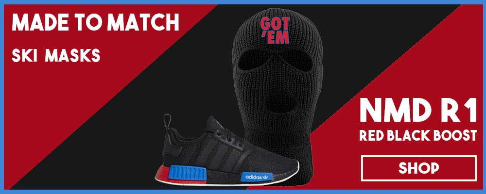 NMD R1 Black Red Boost Matching Ski Masks | Sneaker ski masks to match NMD R1s