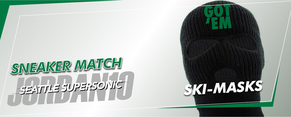 Jordan 10 Seattle SuperSonics sneaker matching ski mask